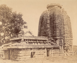 General view from the south-west of the Parashurameshvara Temple, Bhubaneshwar